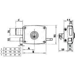 Barra Zirconio 20 mm. x 2,5 Metros Bronce Viejo
