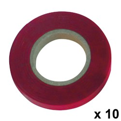 Cinta Atadora PVC 11 x 0,15 mm. x 26 metros Rojo (Pack 10 Rollos)