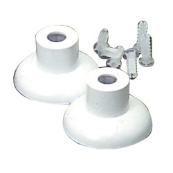 Juego Soportes Baño Plastico Cromo  16 mm.