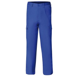 Pantalon De Trabajo Largo, Color Azul, Multibolsillos, Resistente, Talla 46