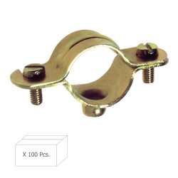 Abrazadera Metalica M-6   22 mm. (Caja 100 piezas)