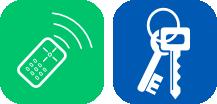 Iconos de copia de llaves y mandos